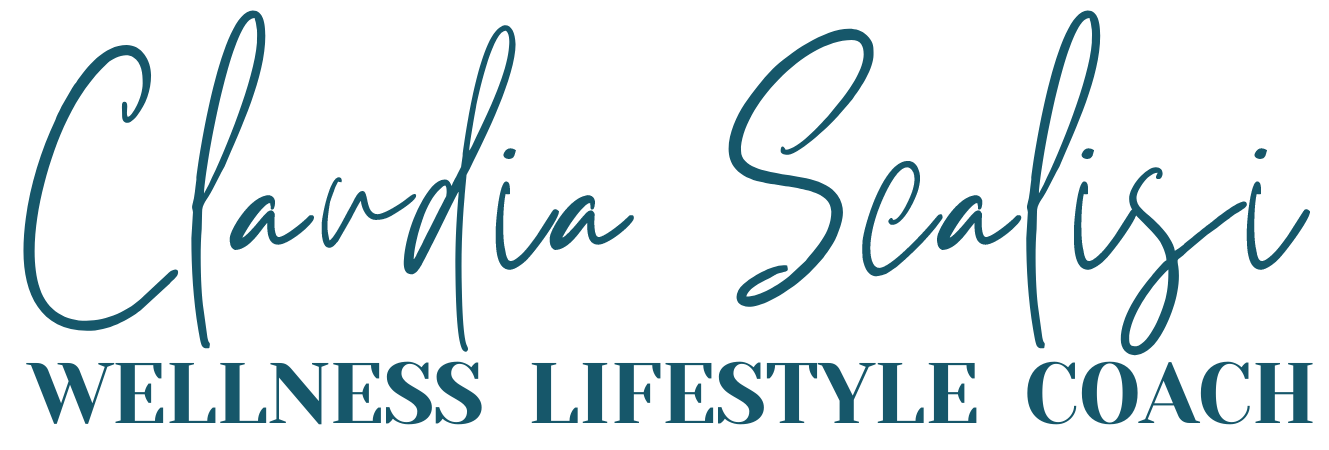 Claudia Scalisi Wellness Lifestyle Coach (words only - deep blue)